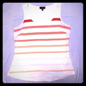 The Limited coral ombré stripe top